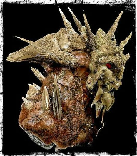 """The Pain Eater: Aside from being a doctor, Theodore Willard was also an artist. A sculptor to be exact. This bust was found in his private office in the basement, and was labeled """"Pain Eater.""""--The creatures he supposedly convened with."""